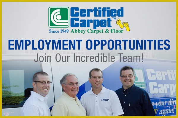 Join the Certified Carpet team today!  Check out all current employment opportunities today!